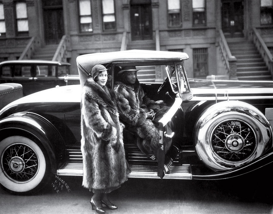 Couple in Raccoon Coats James VanDerZee 1932