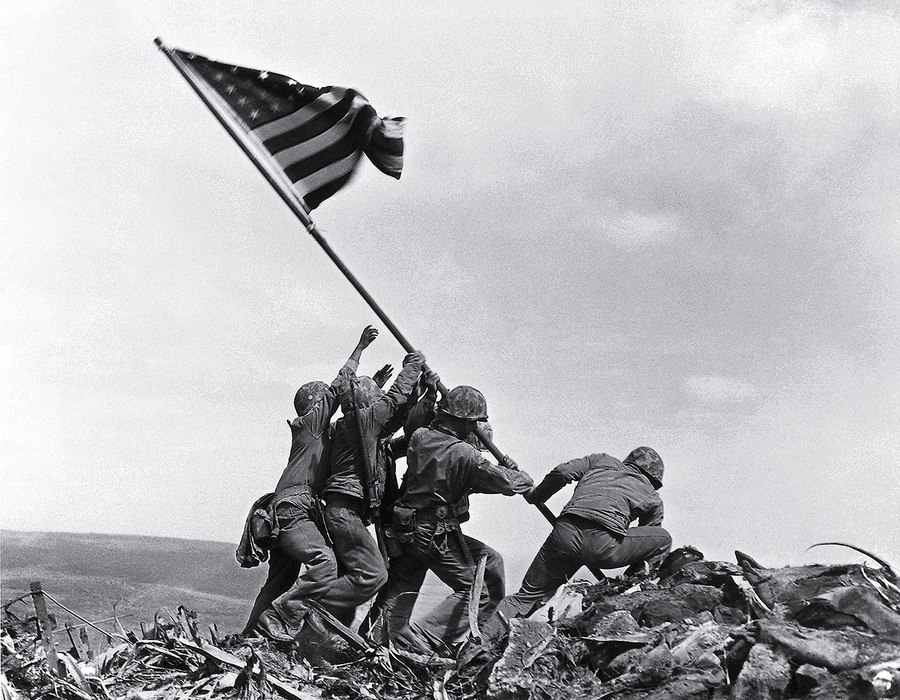 Flag Raising on Iwo Jima Joe Rosenthal 1945