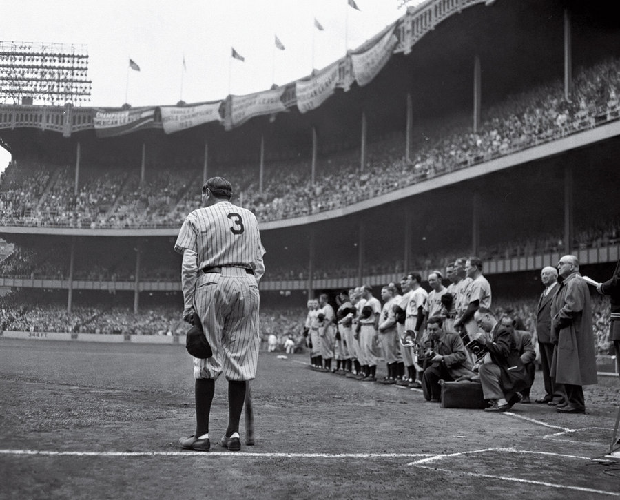 The Babe Bows Out Nat Fein 1948