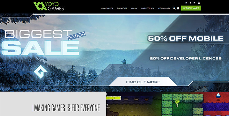 GameMaker homepage