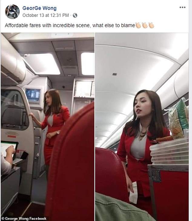 Taking to Facebook the man praised the airline