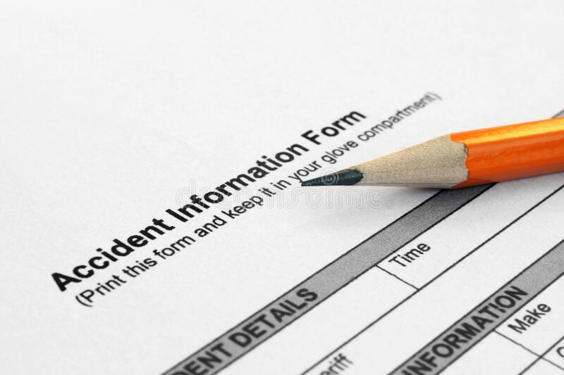 Accident information form royalty free stock photos