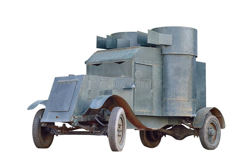 Armored car. Austin-Putilovets - an armored car, which was adopted by the Russian army during the First World War royalty free stock image