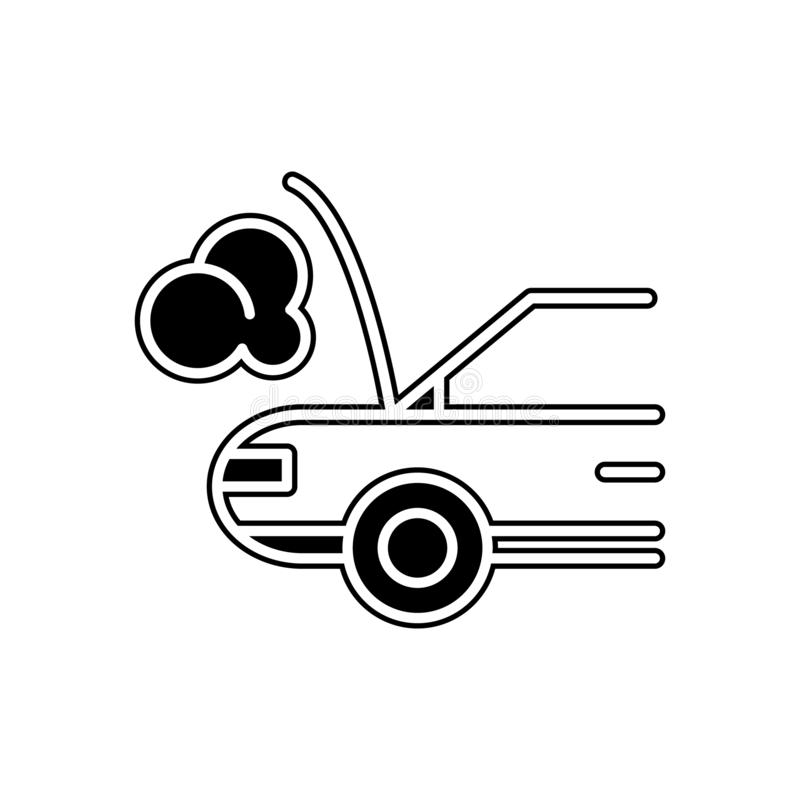 Car broken down icon. Element of Cars service and repair parts for mobile concept and web apps icon. Glyph, flat line icon for. Website design and development vector illustration