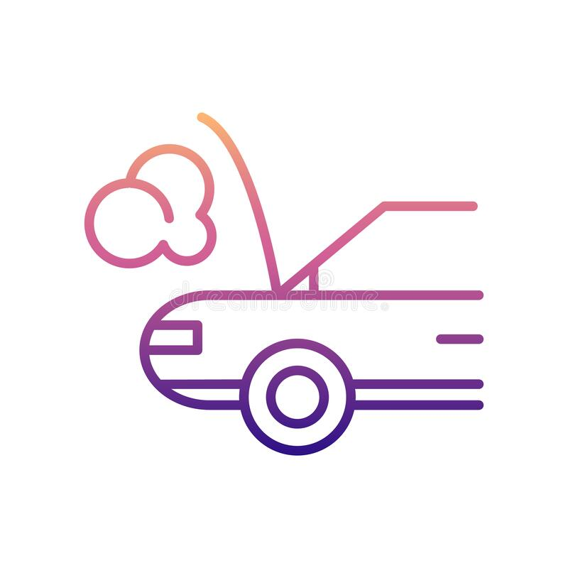Car broken down nolan icon. Simple thin line, outline vector of Cars service and repair parts icons for ui and ux, website or. Mobile application on white vector illustration