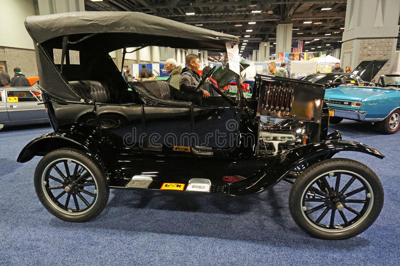 Ford Model T. Photo of vintage ford model t at the 2015 washington dc auto show at the washington dc convention center on 1/24/15. This car was the first stock photography