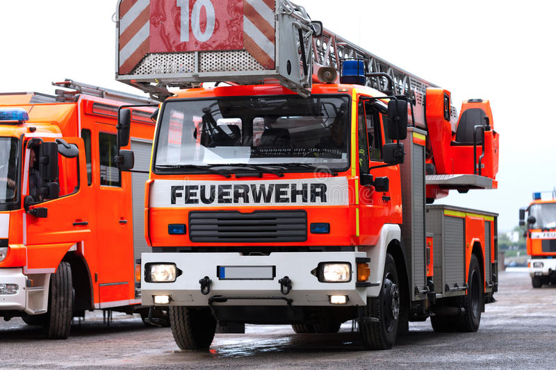 German ladder fire truck royalty free stock photos