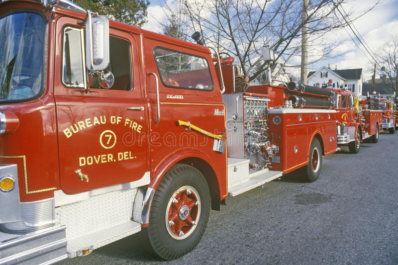 Hook and ladder fire truck, Dover, Delaware stock photos