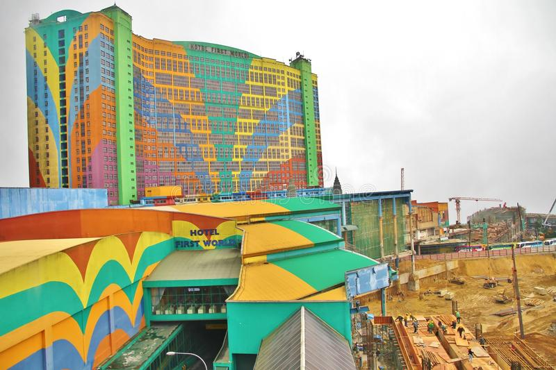 Hotel First World @ Genting Highlands. Hotel First World at Genting Highlands, with construction for its 5 Billion Ringgit expansion project in progress. Photo royalty free stock image