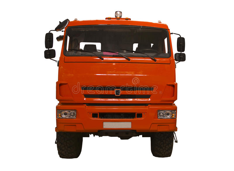 Insulation legendary truck KAMAZ. Multiple winner of the trophy Camel royalty free stock image