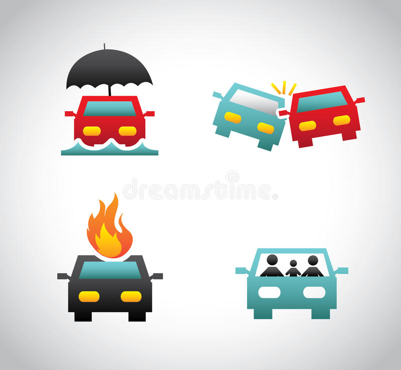 Insurance for car vector illustration