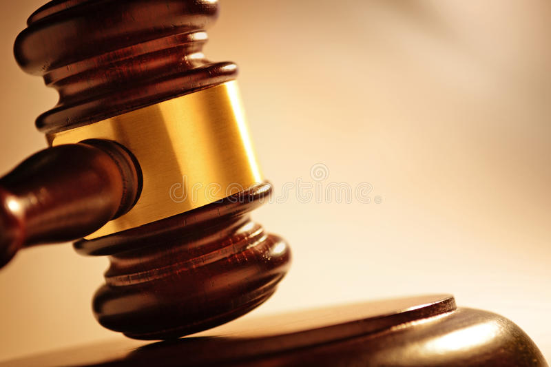 Judge or auctioneers gavel stock images