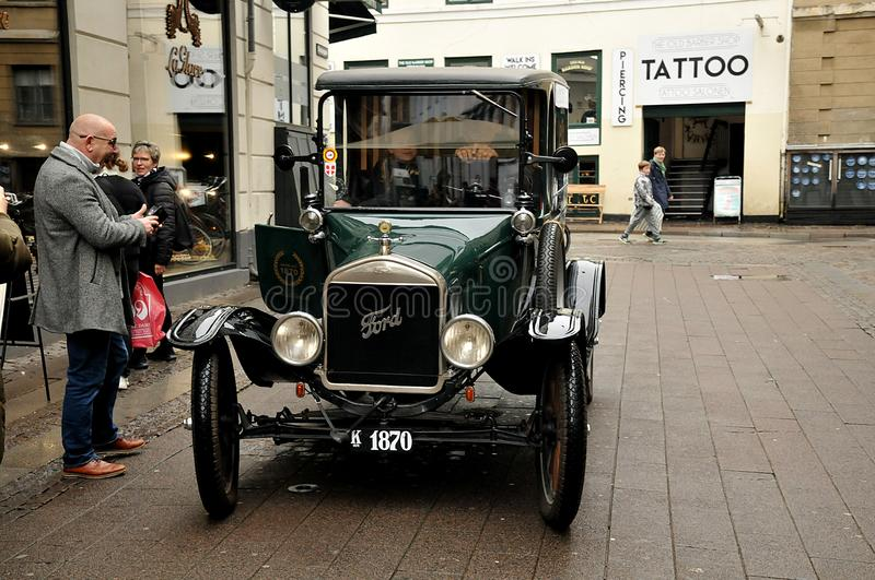 OLD CLASSIC FORD AUTO IN COPENHAGEN DENMARK. Copenhagen /Denmark/ 17.Octobert 2019/ Old classic eteran ford auto in danish capital.   Photo..Francis Dean / royalty free stock images