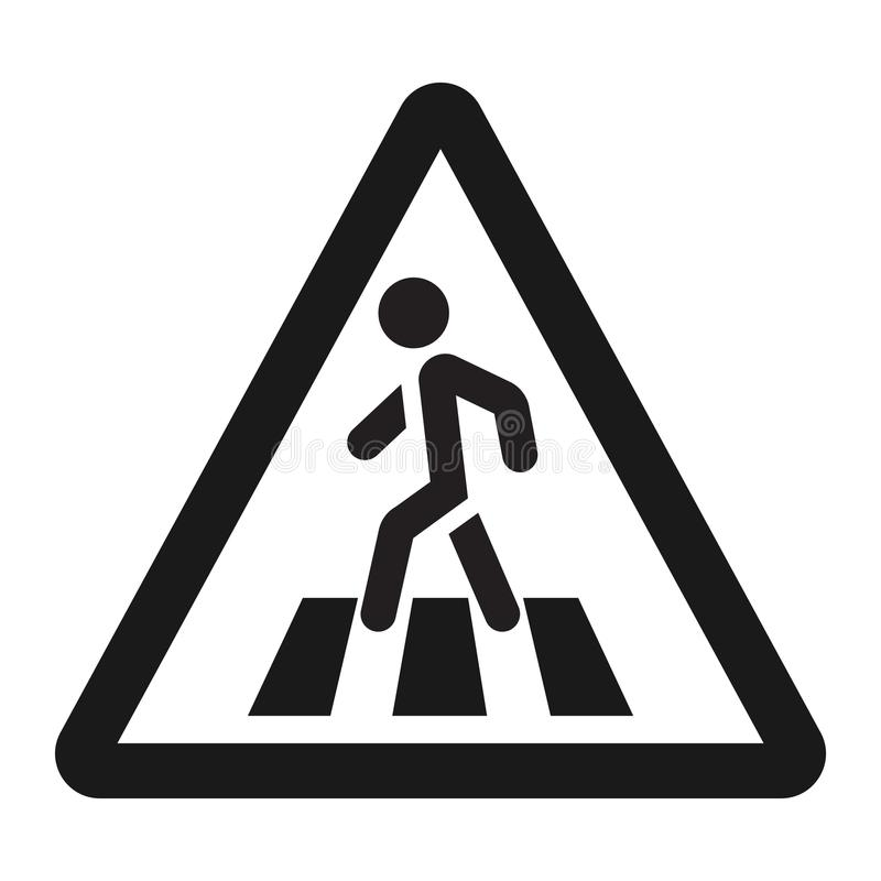 Pedestrian crossing and crosswalk sign line icon. Traffic and road sign, vector graphics, a solid pattern on a white background, eps 10 royalty free illustration