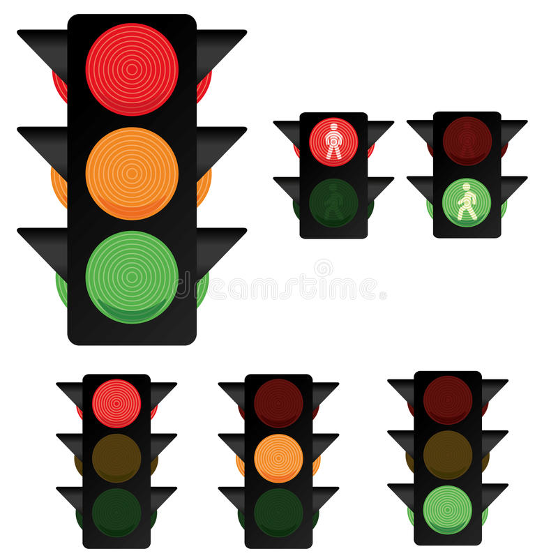 Traffic Light Collection 2 vector illustration