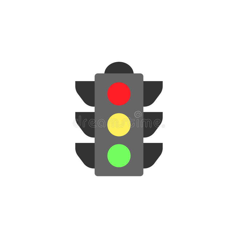 Traffic light flat icon, stop light and navigation vector illustration