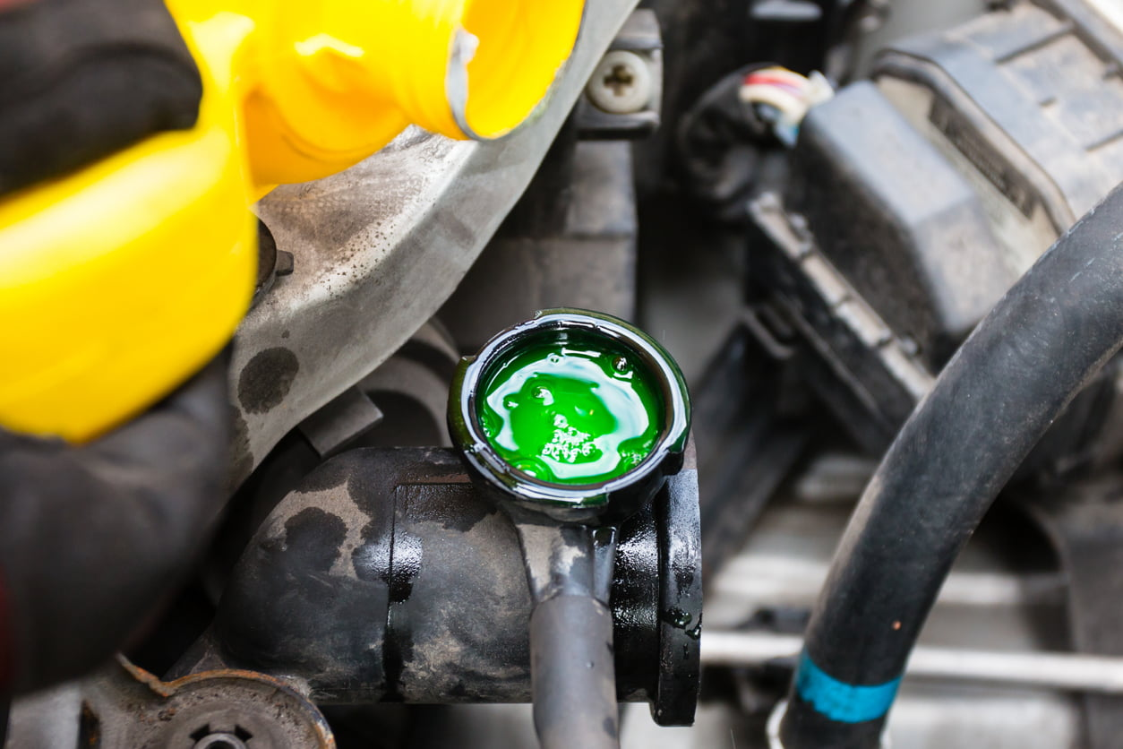 image of engine coolant